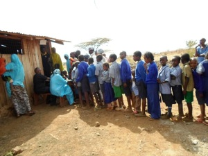 Rotarians assists with medical camp activity at Kachiuru, Meru County, Kenya