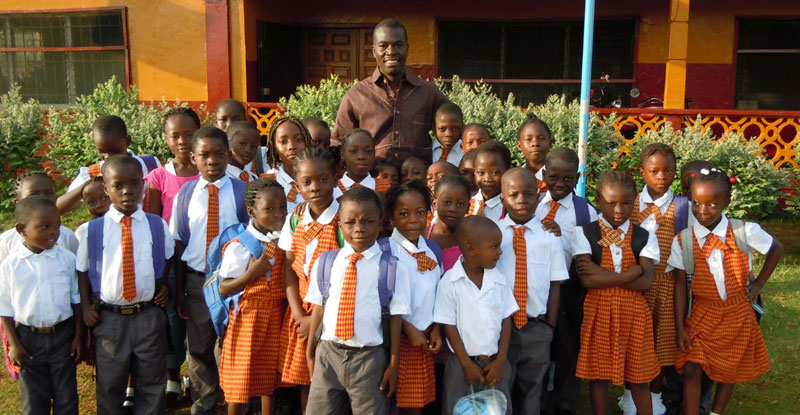 With students from the African Dream Academy