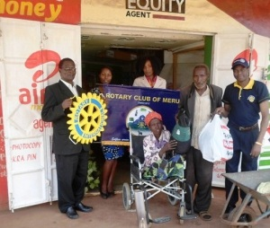 Club wheelchair donation to a Polio survivor from Meru County