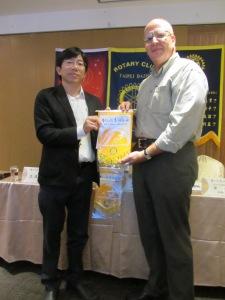 Craig Nemitz visits fellow Rotarians in Taipei, Taiwan.