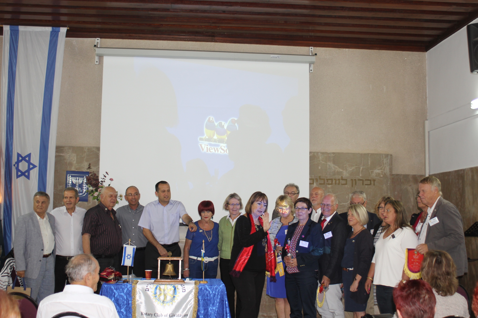 The Swedish team meeting their Israeli hosts. Photo courtesy of Ephraim Pri-Har