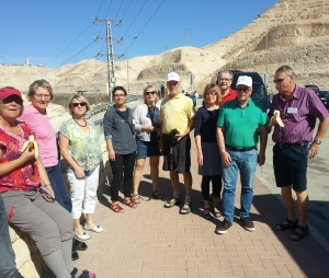 RFE visiting team on their way to the Dead Sea in Israel. Photo courtesy of Ephraim Pri-Har