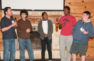Camp Enterprise participants give project presentations. Photo courtesy of W. Gaines Bagby.