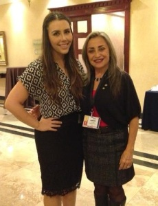 With Amparo Albuja (right), District 4440's X Ecuador Project Fair co-organizer and Rotary Club of Quito Club President