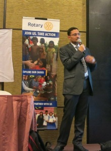 Presenting about Rotary's online tools and how they can help develop and promote projects