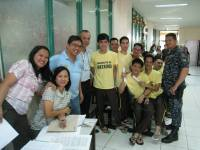 Club members and spouses at the Marikina City Jail.