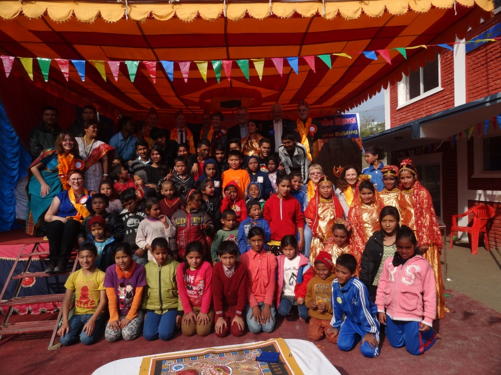 Students at the new Kumari Vidhya Mandir English School.