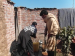 RCC of Tauheed Nagar, Pakistan, installs community hand pump.