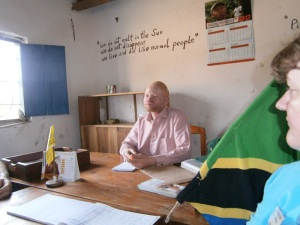 Alfred Kapole, Chairman of Ukerewe's Albino Society. Photo courtesy of John Philip