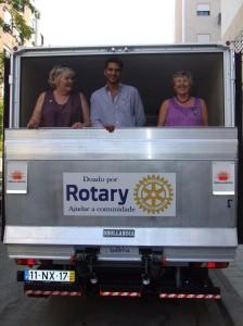 RWAF members model the new truck.