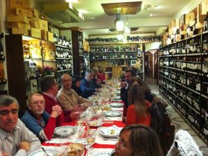 RWAF members enjoying a wine dinner in Portugal.