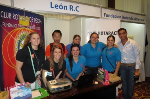 Rotary and Rotaract project exhibitors from Leon, Nicaragua