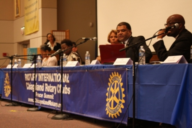 Past Peace Summit speakers including elected officials, police officers, community members, faith leaders, and activists.