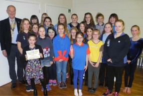 The Rotary Club of Sherborne Castles helped Girl Guides with funding for a camp trip.