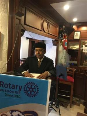 The Rotary Club of Mussoorie's guest speaker.
