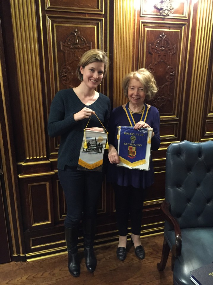 Katie with Jean Jeanie Harvey, president of the Rotary Club of Kensington who hosted her during her Global Grants scholarship.
