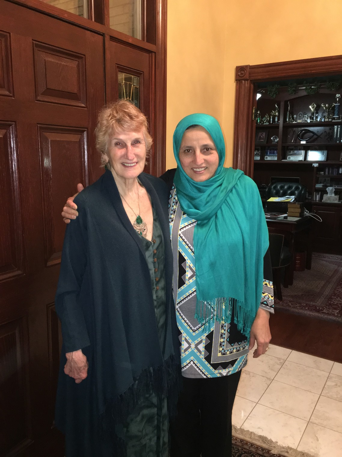 Bibi pictured with friend and fellow Rotarian, Barbara Maves. Barbara is the Projects Chair for the Rotarian Action Group for Population & Development. She is also one of the primary contacts for the global grant project AWAKEN is working with Rotary clubs on.