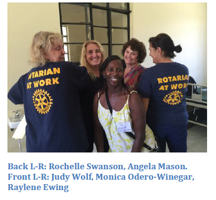 Judy Wolf (front left) with Vocational Training Team members