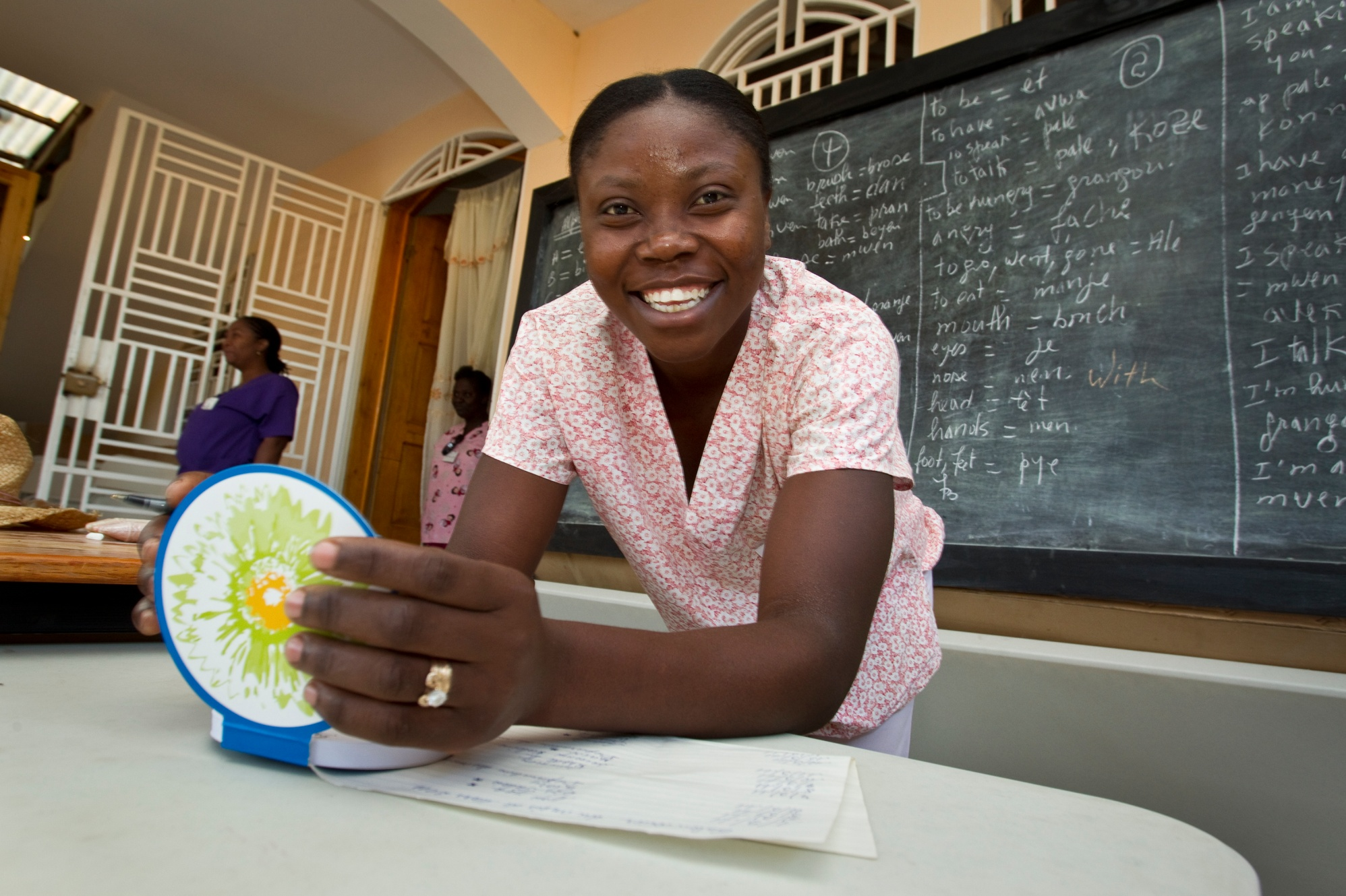 Marie-Ange Esaie, a volunteer midwife with Midwives for Haiti, prepares for a prenatal clinic in Darlegrand, east of Hinche, Haiti. An off-road vehicle was donated to Midwives for Haiti to allow it to reach rural areas like Darlegrand. Customizing and delivering it cost more than $70,000. The project was funded by the Bon Secours Health System, The Rotary Foundation's Haiti Earthquake Relief Fund, the Interact Club of Hermitage High School, Virginia, USA, and the Rotary Clubs of Bon Air, Henrico North, and Western Henrico County, all in Virginia, USA.