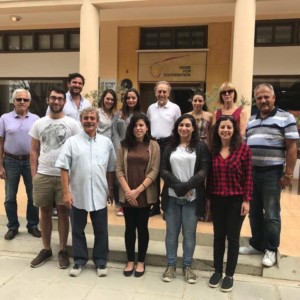 Completing Phase 1 of the Cyprus Peace Education Initiative: Greek and Turkish Cypriot Educators in front of the House for Cooperation in the Nicosia buffer zone.