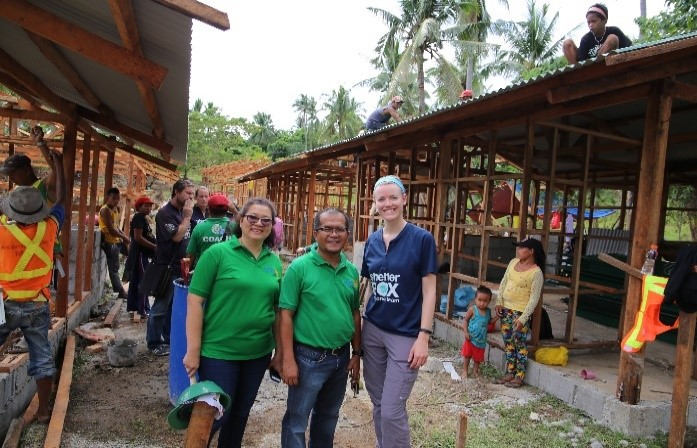 Dindin Morillo, Anna Dixie, Greg Pastor and Jane Diu at the Almeria Tent Site.