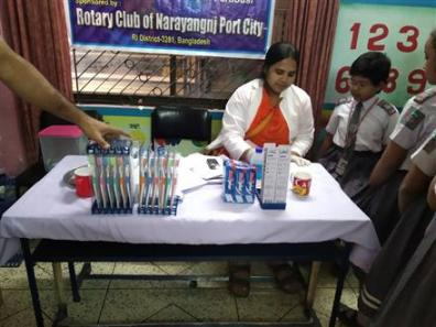 Dental Camp organized by Rotary Clubs of Narayanganj Port City and Rajdhani Sonargaon.