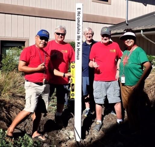 Peacebuilder Club: the Rotary Club of Kona Sunrise, Hawaii USA