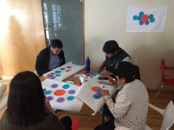 Positive Peace Workshops participants in Mexico use a diagnostic mapping tool developed by PartnersGlobal before the workshop. This tool is implemented by Rotaractors involved in planning the workshop to ensure that the most promising and influential young leaders are selected to attend.