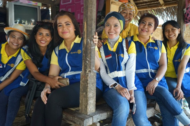 Members of the Rotary Club of Mataram Lombok