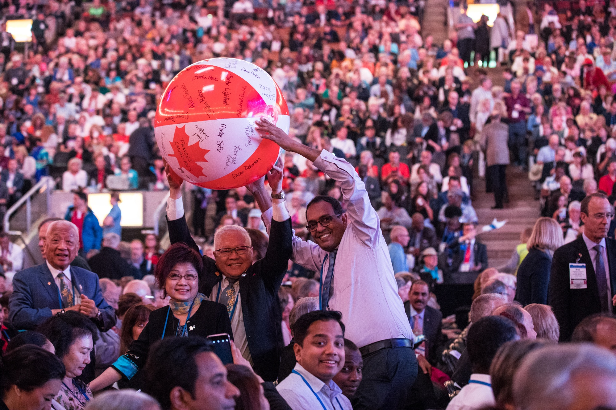 Opening ceremony, Rotary International Convention, 24 June 2018. Toronto, Ontario, Canada.