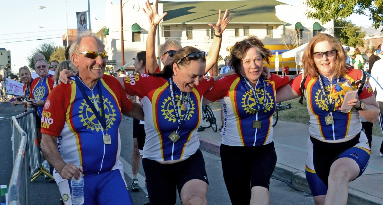 The 33rd Annual El Tour de Tucson had more than 9,000 Rotarian cyclists. Photo by James S. Wood.