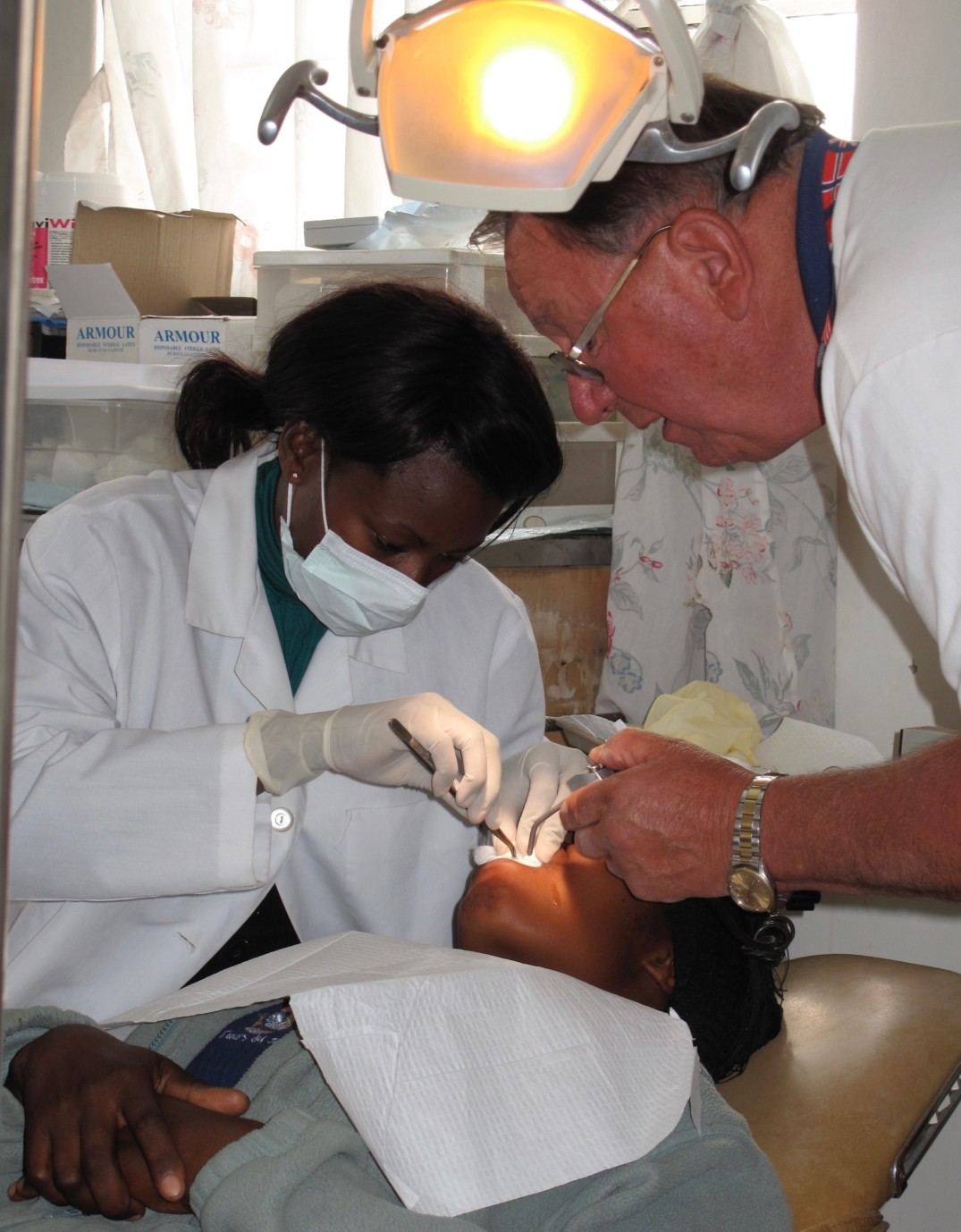 As Brenda advanced in her education, Jim Green coached her when he visited the IVV Dental Clinic in Zimba.