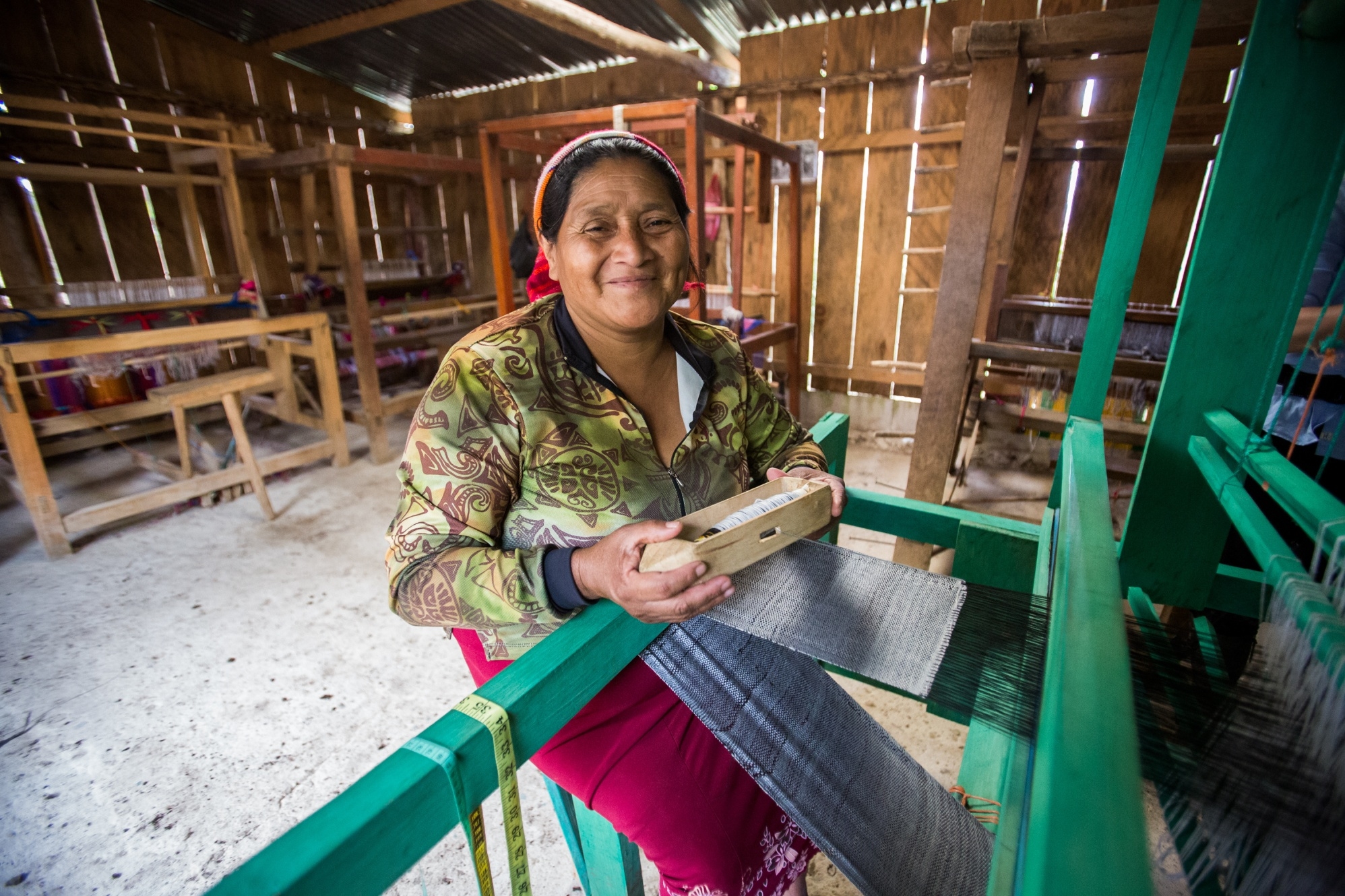 Remigia Dominiguez is the head of a weaving cooperative in El Cacao, Honduras, that uses microloans from the Adelante Foundation to expand its business. The Adelante Foundation's microcredit program, which offers women loans and business training aimed at increasing their household incomes, is supported by a Rotary global grant.
