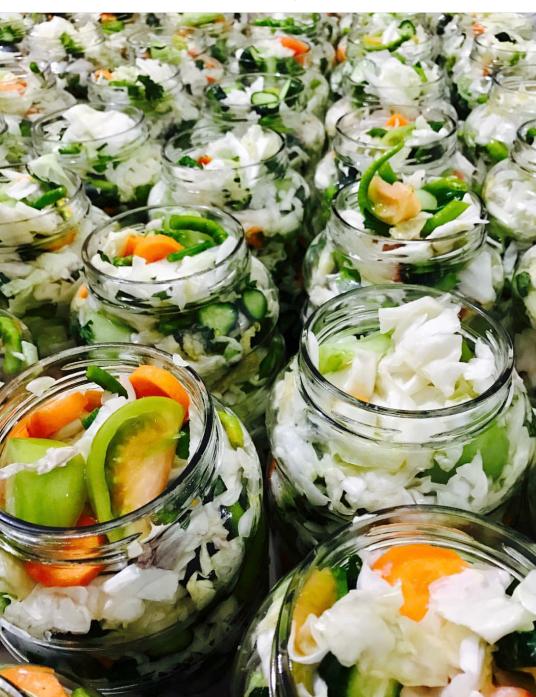 Pickles in jars.