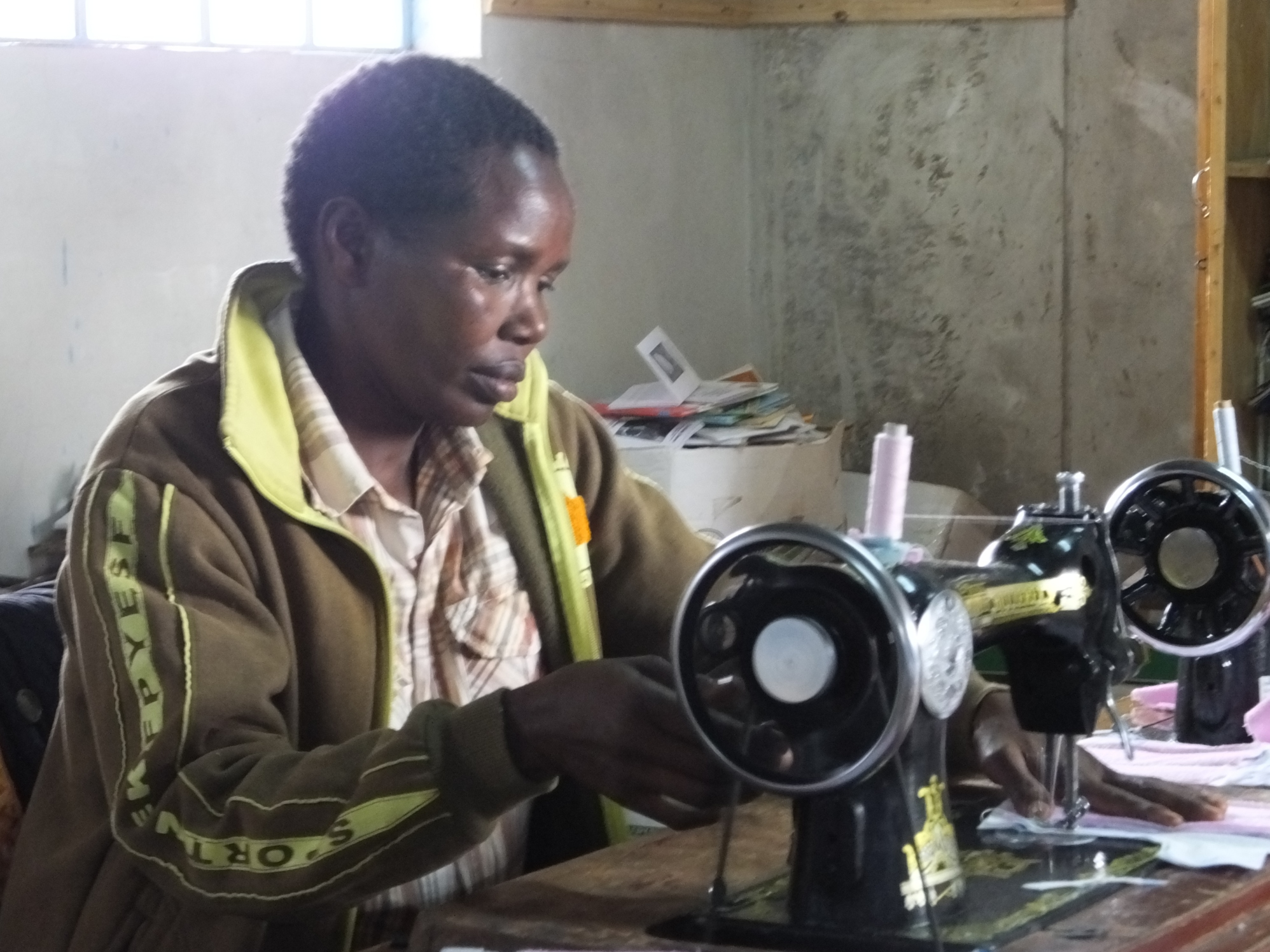 Member of the sewing team of the Soar Kenya Widows Self-Help Group.