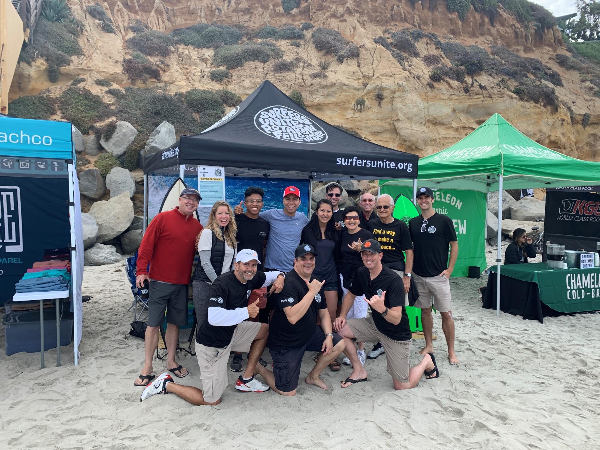 Surfers Unite members at the 2019 BroAM